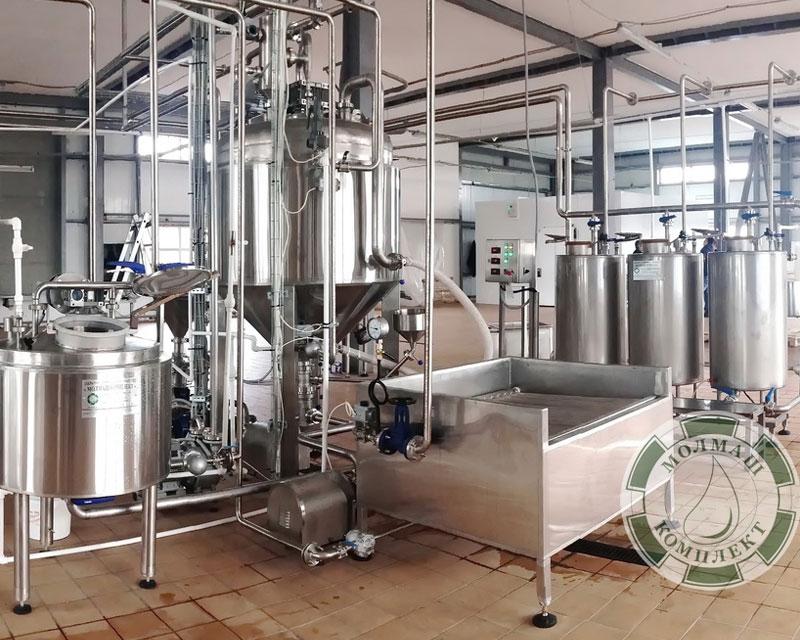 Установки для производства кондитерских кремов, соусов, фруктово-ягодных наполнителей, вареного сгущенного молока и сгущенного молока