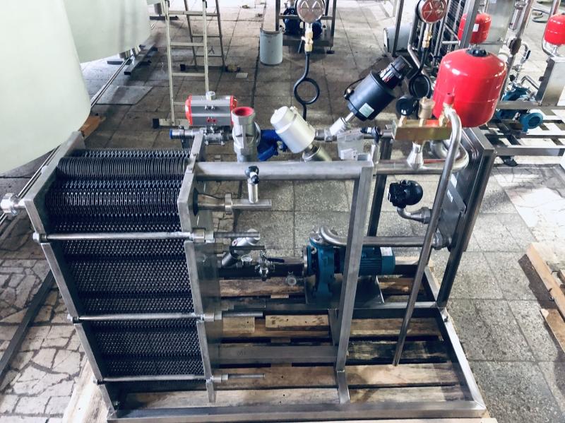 Установка тепловой обработки продукта в потоке